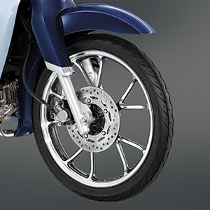 V- Shaped Two Tone Wheel & Tubeless Tire